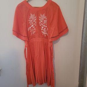 Nanette Lepore orange dress